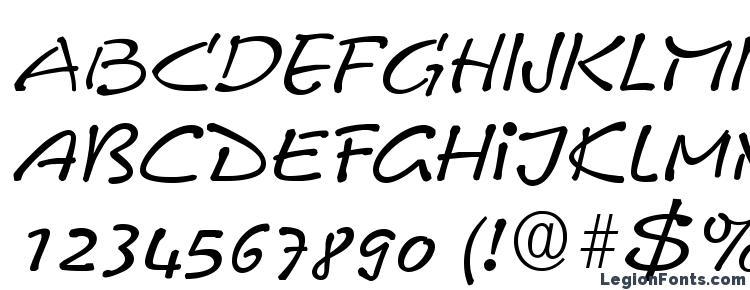 глифы шрифта Comix RegularItalic DB, символы шрифта Comix RegularItalic DB, символьная карта шрифта Comix RegularItalic DB, предварительный просмотр шрифта Comix RegularItalic DB, алфавит шрифта Comix RegularItalic DB, шрифт Comix RegularItalic DB