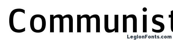 шрифт Communist sans, бесплатный шрифт Communist sans, предварительный просмотр шрифта Communist sans