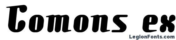 Comons extrabold Font