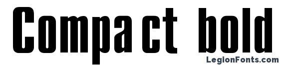 Compact bold regular Font