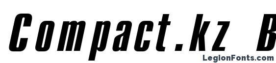 Compact.kz Bold Italic Font