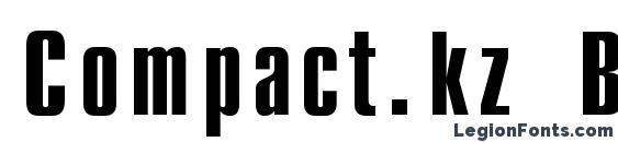Шрифт Compact.kz Bold