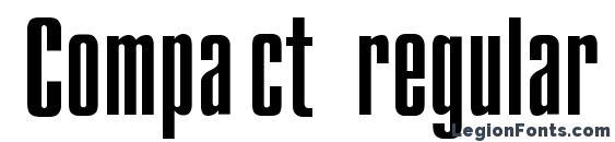 Шрифт Compact regular