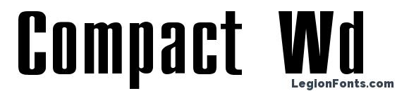 Compact Wd font, free Compact Wd font, preview Compact Wd font