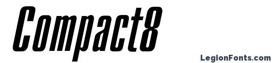 Шрифт Compact8