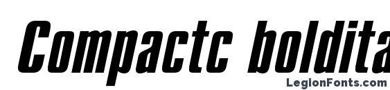 Compactc bolditalic Font, Bold Fonts