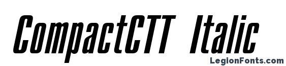 CompactCTT Italic Font