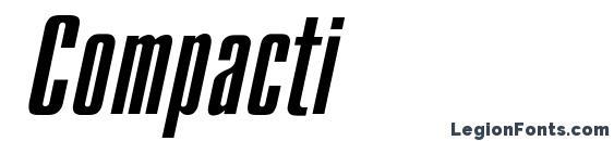 Compacti font, free Compacti font, preview Compacti font