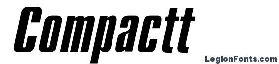 Compactt font, free Compactt font, preview Compactt font