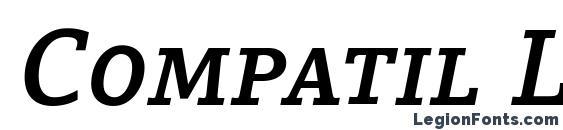 Compatil Letter LT Com Bold Italic Small Caps Font