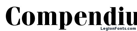 Compendium SSi Bold Font
