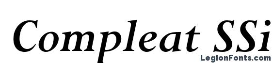 Compleat SSi Bold Italic Font