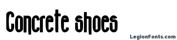 Concrete shoes Font
