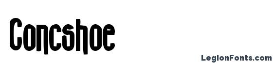 Шрифт Concshoe
