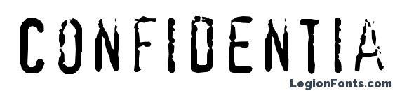 Confidentialc Font