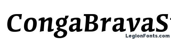 Шрифт CongaBravaStd SmBd