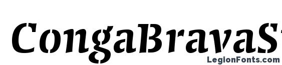 CongaBravaStencilStd SmBd Font