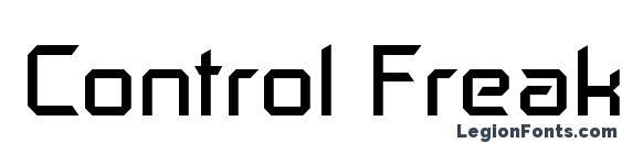Шрифт Control Freak