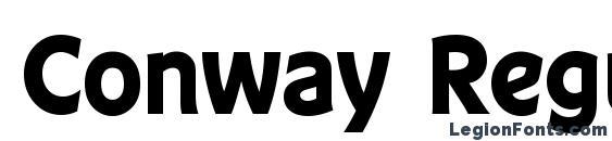 Шрифт Conway Regular
