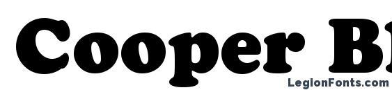 Шрифт Cooper Black BT