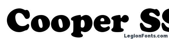 Cooper SSi Black Font, Stylish Fonts