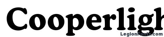 Cooperlightcbt bold Font