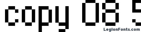 Шрифт copy 08 55