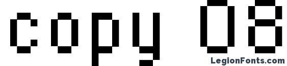 Шрифт copy 08 56