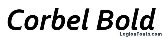 шрифт Corbel Bold Italic, бесплатный шрифт Corbel Bold Italic, предварительный просмотр шрифта Corbel Bold Italic