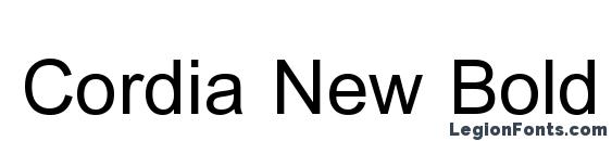 Шрифт Cordia New Bold
