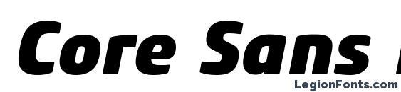 Core Sans M 85 Heavy Italic Font