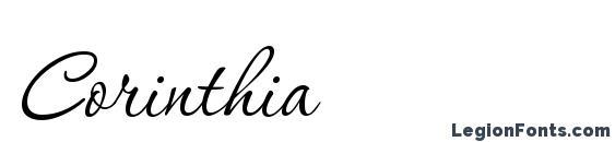 Шрифт Corinthia