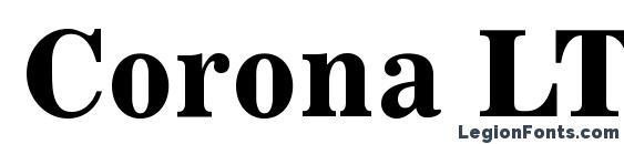 Corona LT Bold Face No. 2 Font