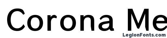 Шрифт Corona Medium