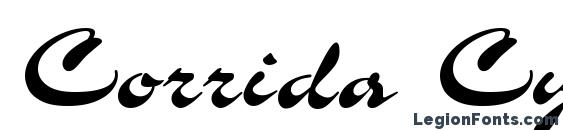 Шрифт Corrida Cyrillic