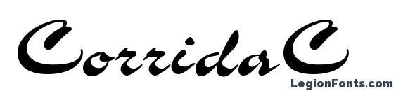 Шрифт CorridaC