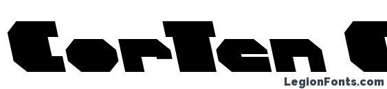 шрифт CorTen ClosedFatItalicAlt, бесплатный шрифт CorTen ClosedFatItalicAlt, предварительный просмотр шрифта CorTen ClosedFatItalicAlt