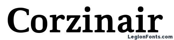 Шрифт Corzinair Bold