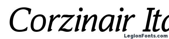 Шрифт Corzinair Italic