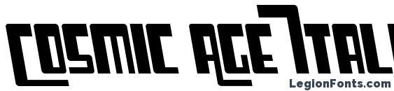 Шрифт Cosmic Age Italic