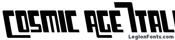 Cosmic Age Italic Font