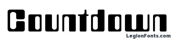 шрифт Countdown, бесплатный шрифт Countdown, предварительный просмотр шрифта Countdown