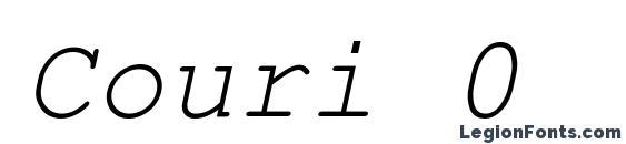 Шрифт Couri 0