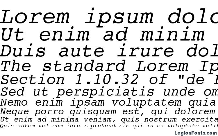 specimens Courier 10 Pitch Italic BT font, sample Courier 10 Pitch Italic BT font, an example of writing Courier 10 Pitch Italic BT font, review Courier 10 Pitch Italic BT font, preview Courier 10 Pitch Italic BT font, Courier 10 Pitch Italic BT font