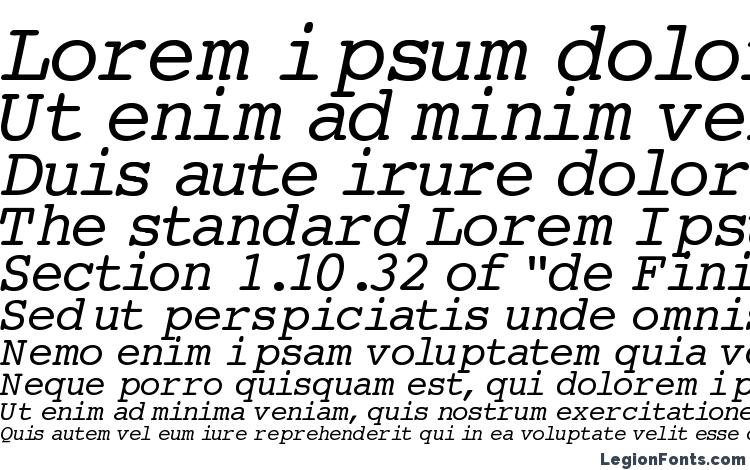 specimens Courier Normal Italic font, sample Courier Normal Italic font, an example of writing Courier Normal Italic font, review Courier Normal Italic font, preview Courier Normal Italic font, Courier Normal Italic font