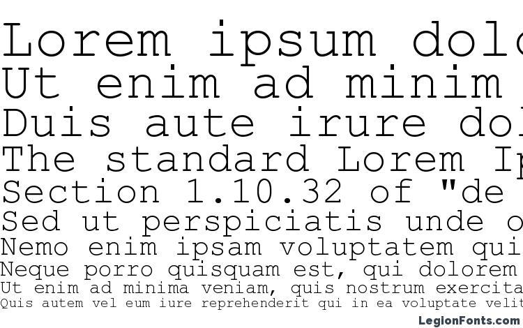 specimens Courier Stylus font, sample Courier Stylus font, an example of writing Courier Stylus font, review Courier Stylus font, preview Courier Stylus font, Courier Stylus font