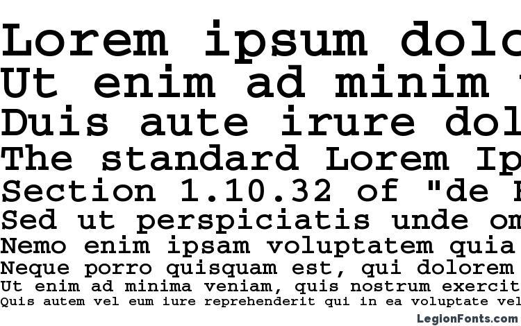 specimens CourierBTT Bold font, sample CourierBTT Bold font, an example of writing CourierBTT Bold font, review CourierBTT Bold font, preview CourierBTT Bold font, CourierBTT Bold font