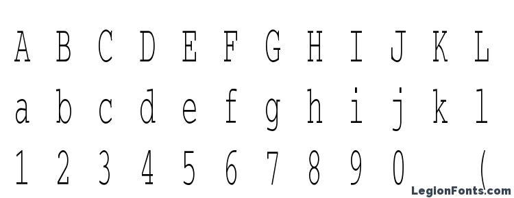 глифы шрифта CourierCTT 50, символы шрифта CourierCTT 50, символьная карта шрифта CourierCTT 50, предварительный просмотр шрифта CourierCTT 50, алфавит шрифта CourierCTT 50, шрифт CourierCTT 50