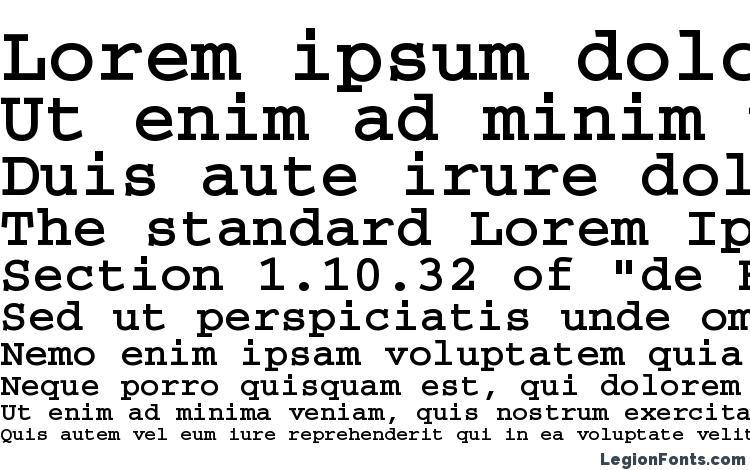 specimens CourierCTT Bold font, sample CourierCTT Bold font, an example of writing CourierCTT Bold font, review CourierCTT Bold font, preview CourierCTT Bold font, CourierCTT Bold font