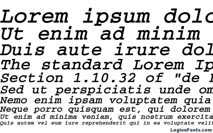 specimens CourierMACCTT BoldItalic font, sample CourierMACCTT BoldItalic font, an example of writing CourierMACCTT BoldItalic font, review CourierMACCTT BoldItalic font, preview CourierMACCTT BoldItalic font, CourierMACCTT BoldItalic font
